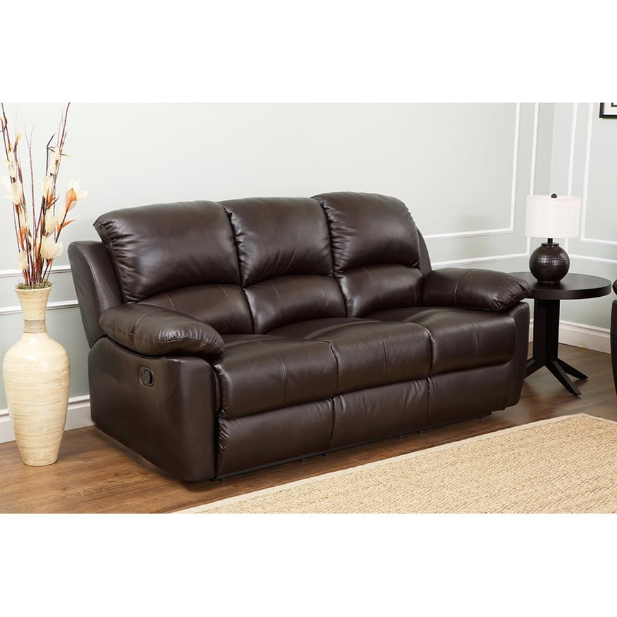 Abbyson Living Westwood Brown Leather Sofa