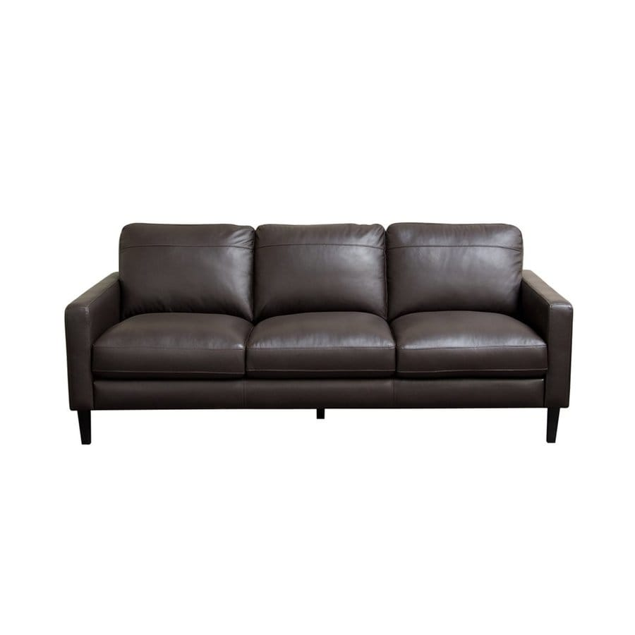 Shop DIAMOND SOFA Omega Dark Chocolate Leather Sofa at Lowes.com