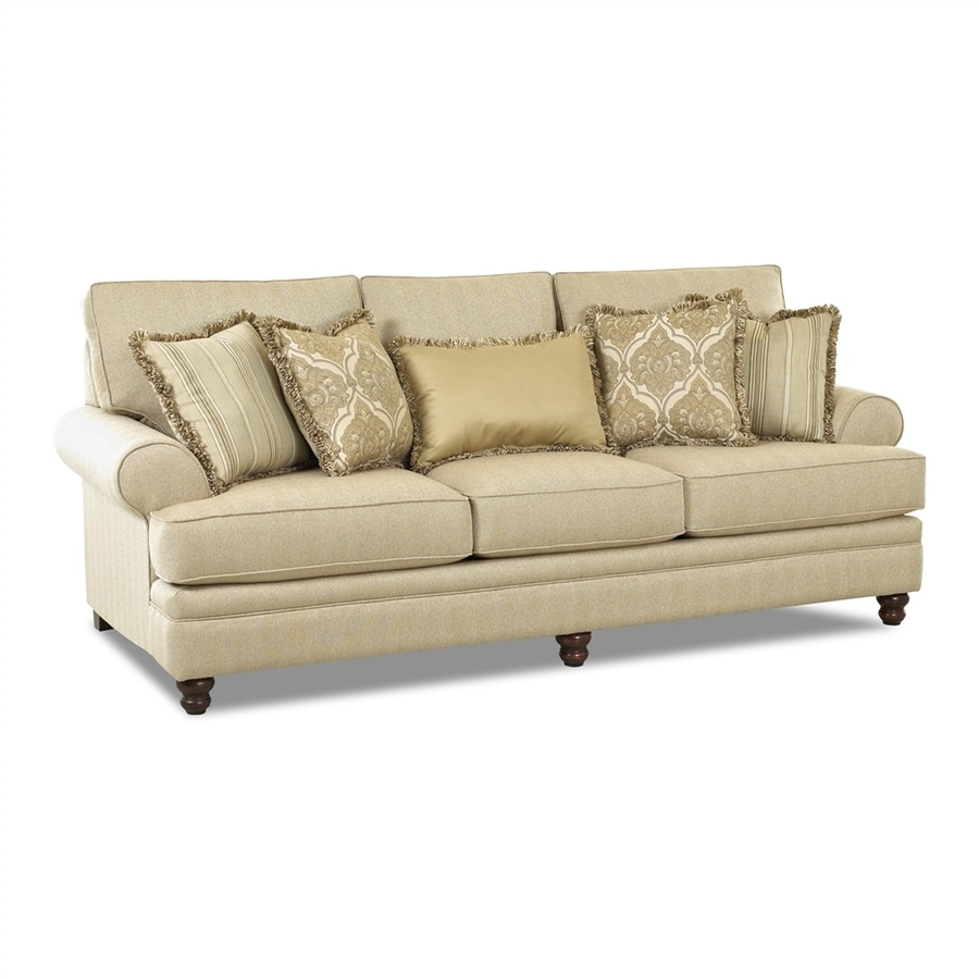Klaussner Darcy Milan Straw Polyester Sofa