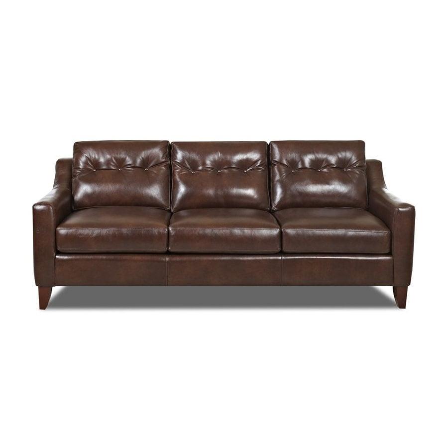 Klaussner Audrina Burgundy Aspen Leather Sofa