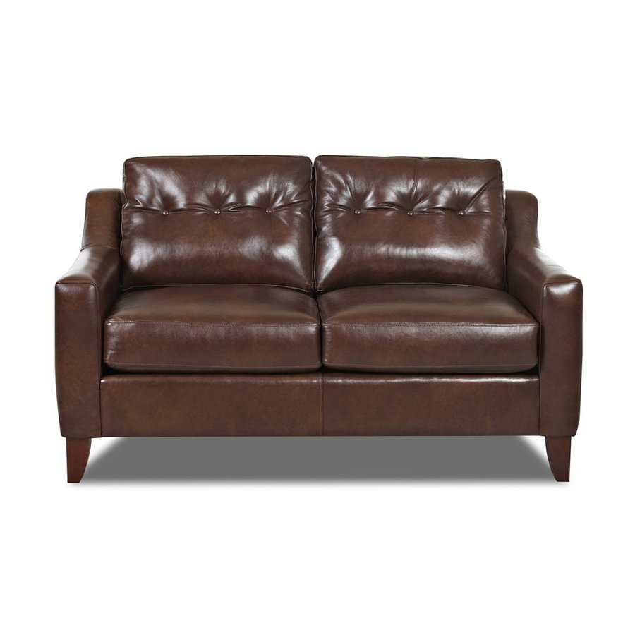 Klaussner Audrina Burgundy Aspen Leather Loveseat