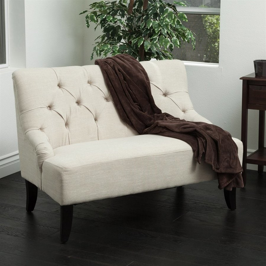Best Selling Home Decor Nicole Light Beige Settee Loveseat