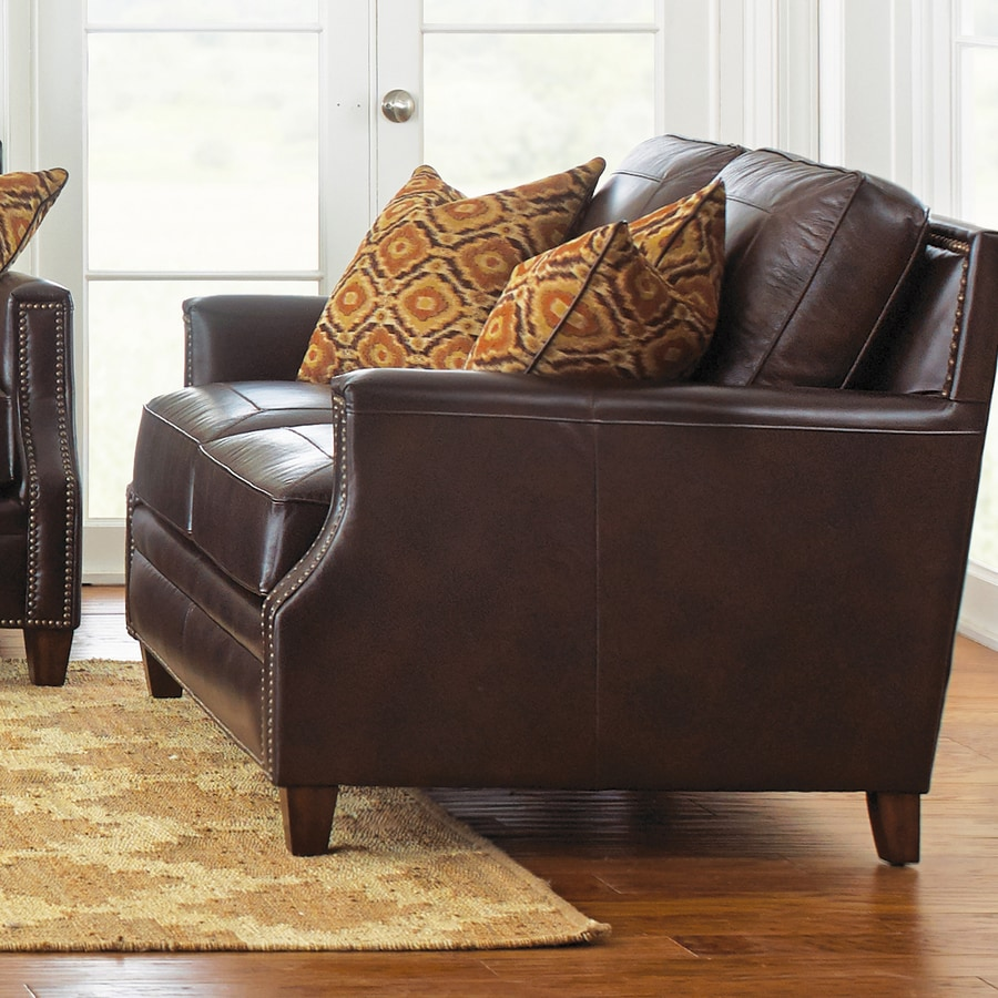 Steve Silver Company Caldwell Walnut Leather Loveseat
