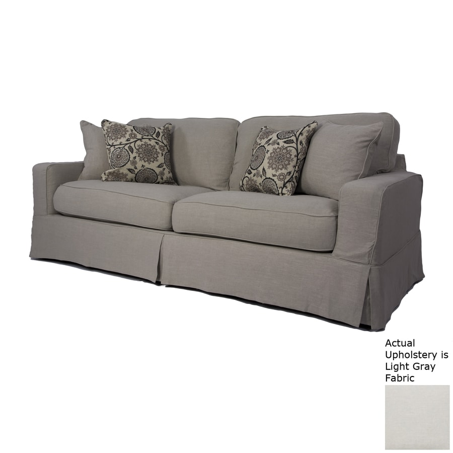 Sunset Trading Americana Light Gray Polyester Sofa