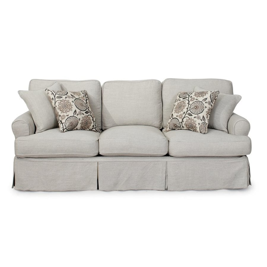 Sunset Trading Horizon Light Gray Polyester Sofa