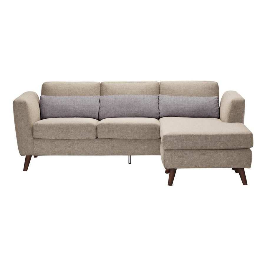 Moe's Home Collection Nano Cappuccino Sectional Sofa with Reversible Chaise