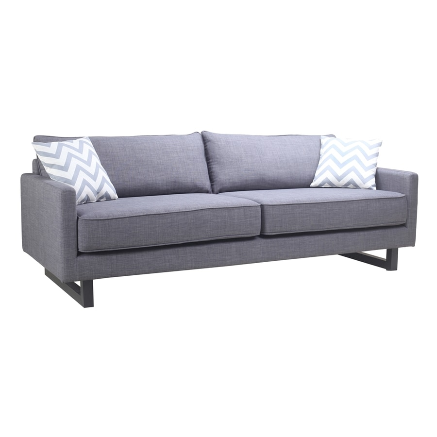 Moe's Home Collection Valerio Grey Polyester Sofa