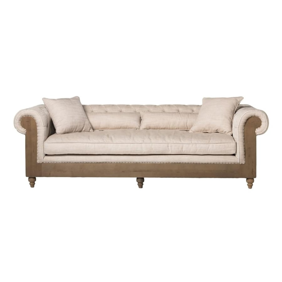 Moe's Home Collection Bordeaux Off-White Polyester Sofa