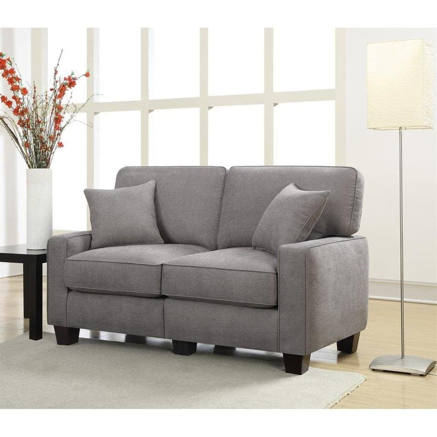 Serta at Home Martinique Kona Gray Polyester Loveseat