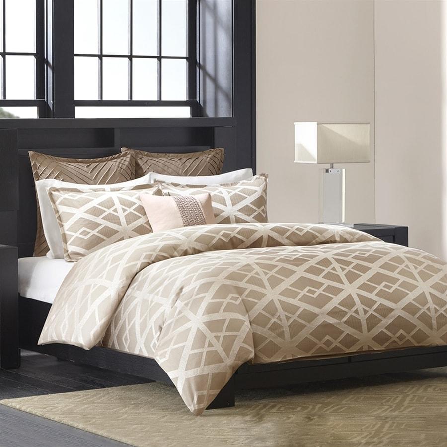 Metropolitan Home Kenmare 3 Piece Taupe Queen Comforter Set