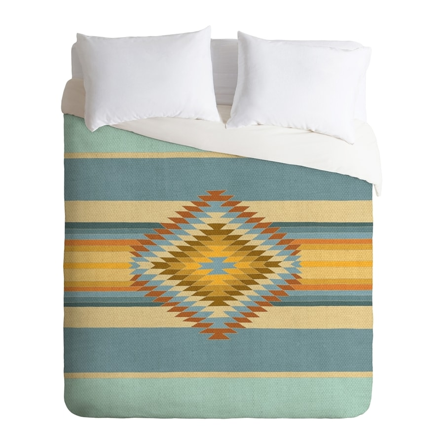 Deny Designs Fiesta Vintage Multicolored Twin Duvet Cover