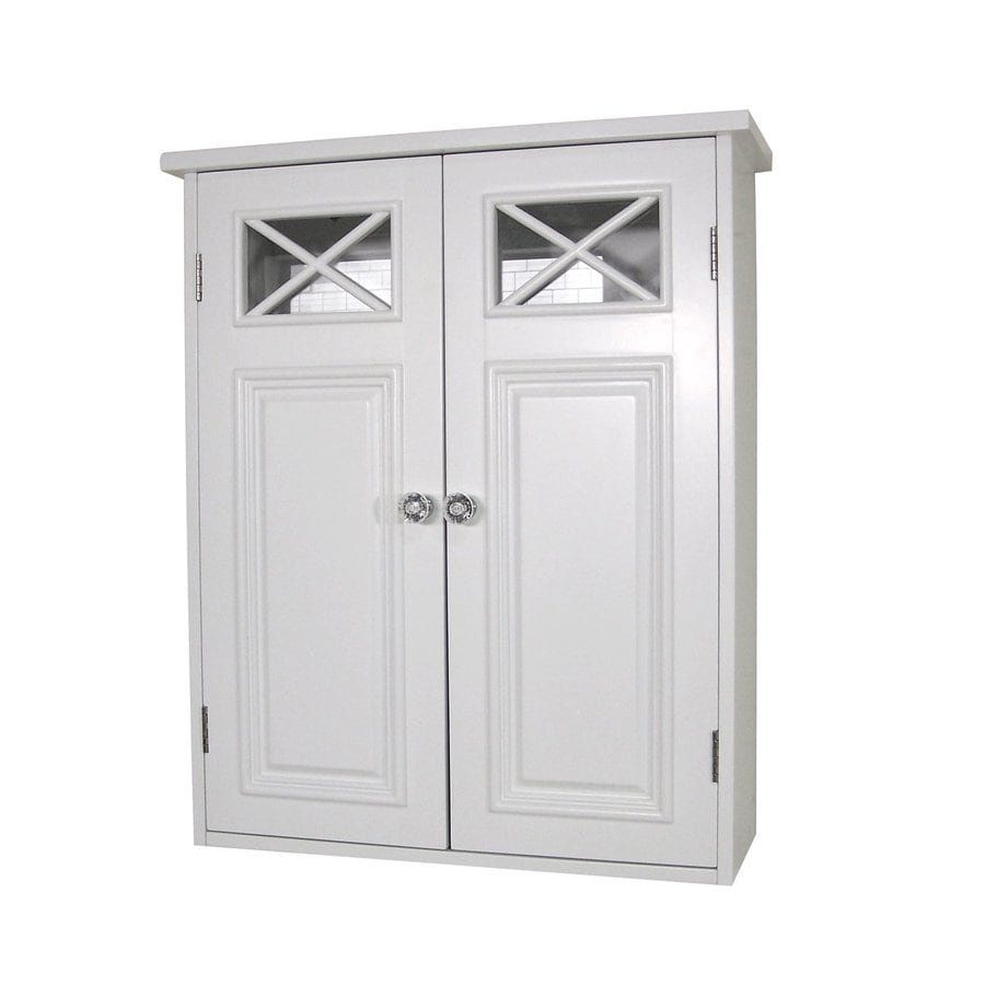 Elegant Home Fashions Dawson 20-in W x 24-in H x 7-in D White Bathroom Wall Cabinet