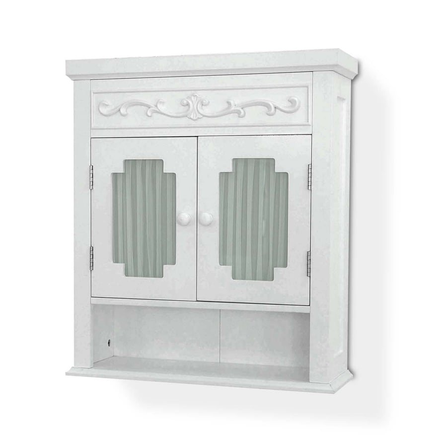 21 in w x h x 7 in d white bathroom wall cabinet at