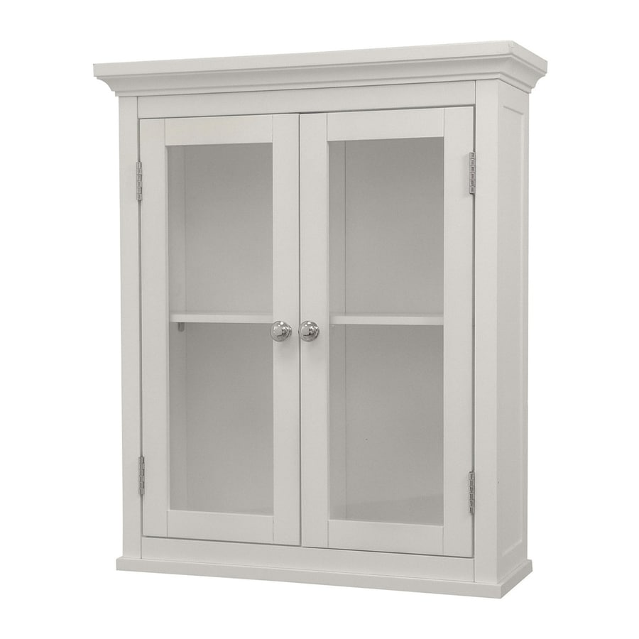 20 in w x 24 in h x 7 in d white bathroom wall cabinet at