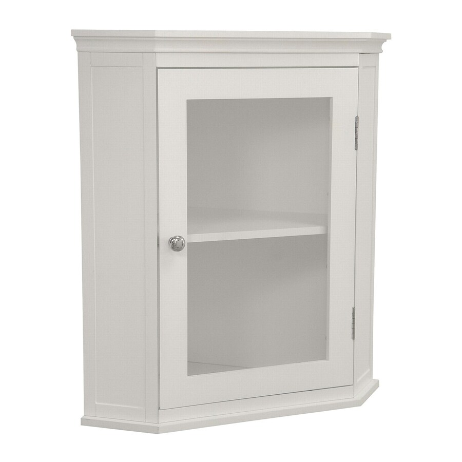 Elegant Home Fashions Madison 22.5-in W x 24-in H x 15-in D White Bathroom Wall Cabinet