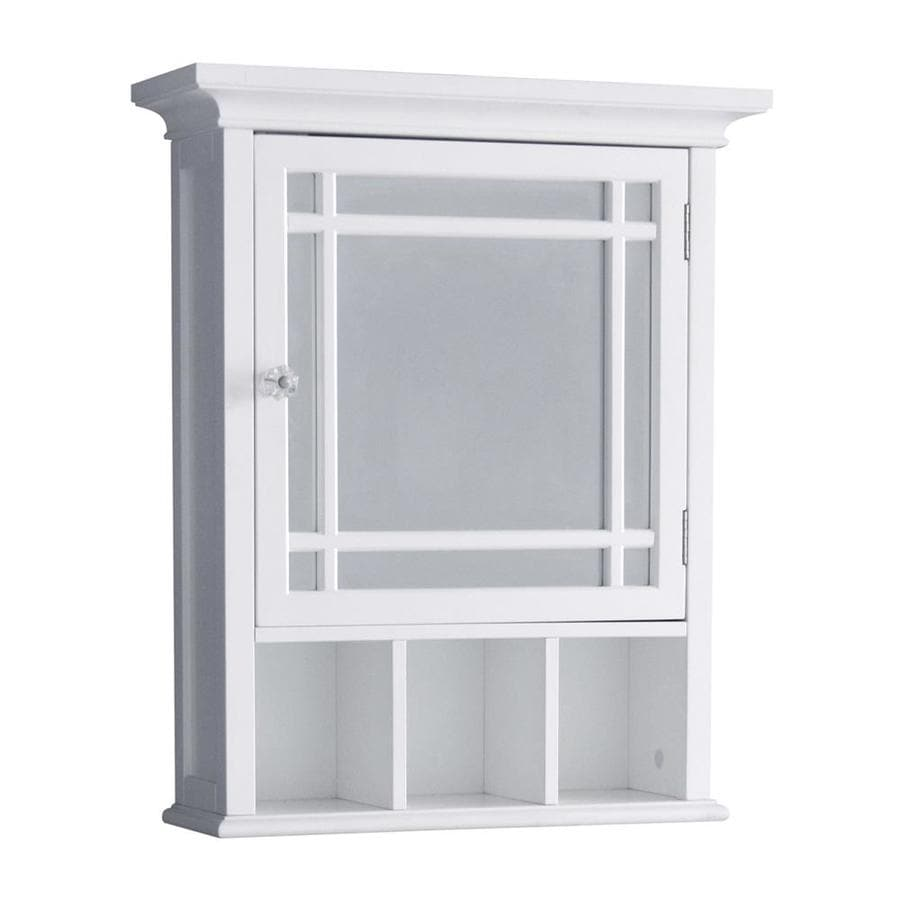 storage lowes medicine aluminum pl kohler shop at cabinets in mirrored rectangle white x com recessed bathroom cabinet