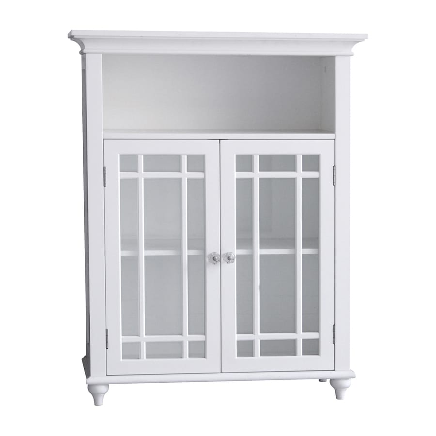 Elegant home fashions neal 26 5 in w x 34 in h x 12 in d - Free standing linen cabinets for bathroom ...