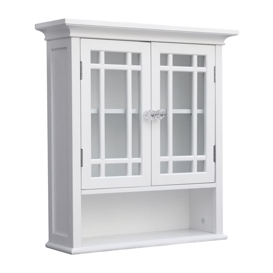 White Bathroom Wall Cabinets shop elegant home fashions neal 22-in w x 24-in h x 7-in d white