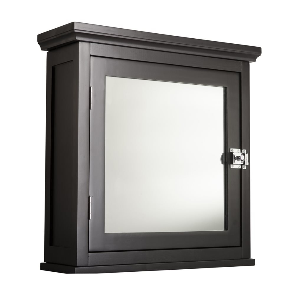 Elegant Home Fashions Madison 18.75-in x 19-in Rectangle Surface Mirrored MDF Medicine Cabinet