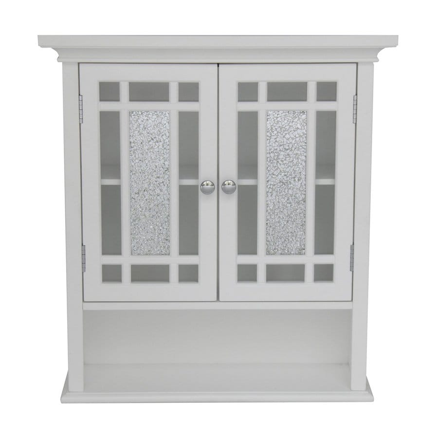 Shop Elegant Home Fashions Windsor In W X In H X In D White - Lowes bathroom wall shelves
