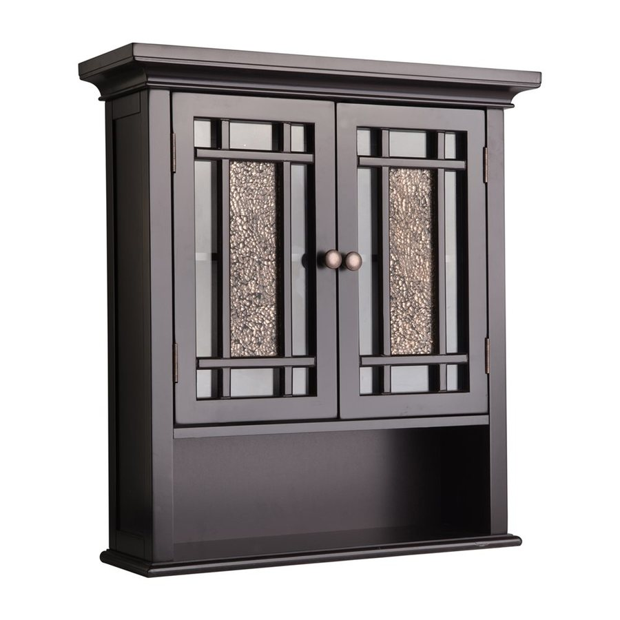Shop elegant home fashions windsor 22 in w x 24 in h x 7 for Bathroom 2 door wall cabinet
