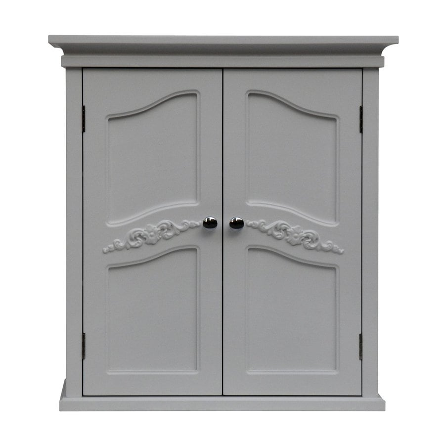 Elegant Home Fashions Versailles 22-in W x 24-in H x 8-in D White MDF Bathroom Wall Cabinet