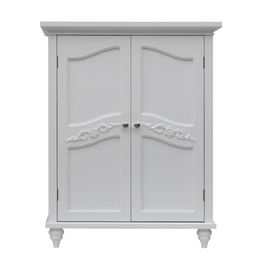 Elegant Home Fashions Versailles 27-in W x 34-in H x 13.75-in D White MDF Freestanding Linen Cabinet