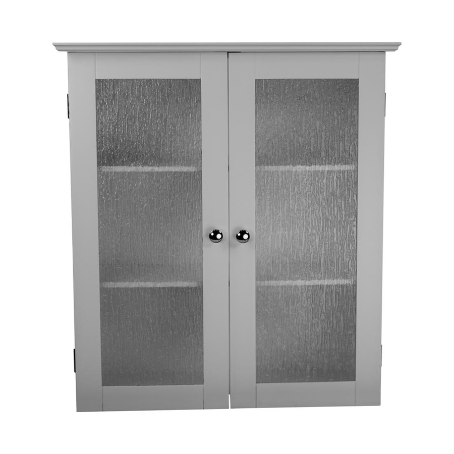 w x 25 in h x 8 in d white bathroom wall cabinet at