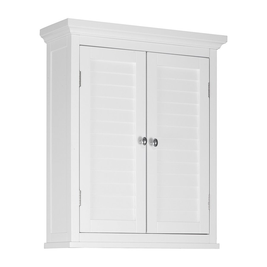 White Bathroom Door shop bathroom wall cabinets at lowes