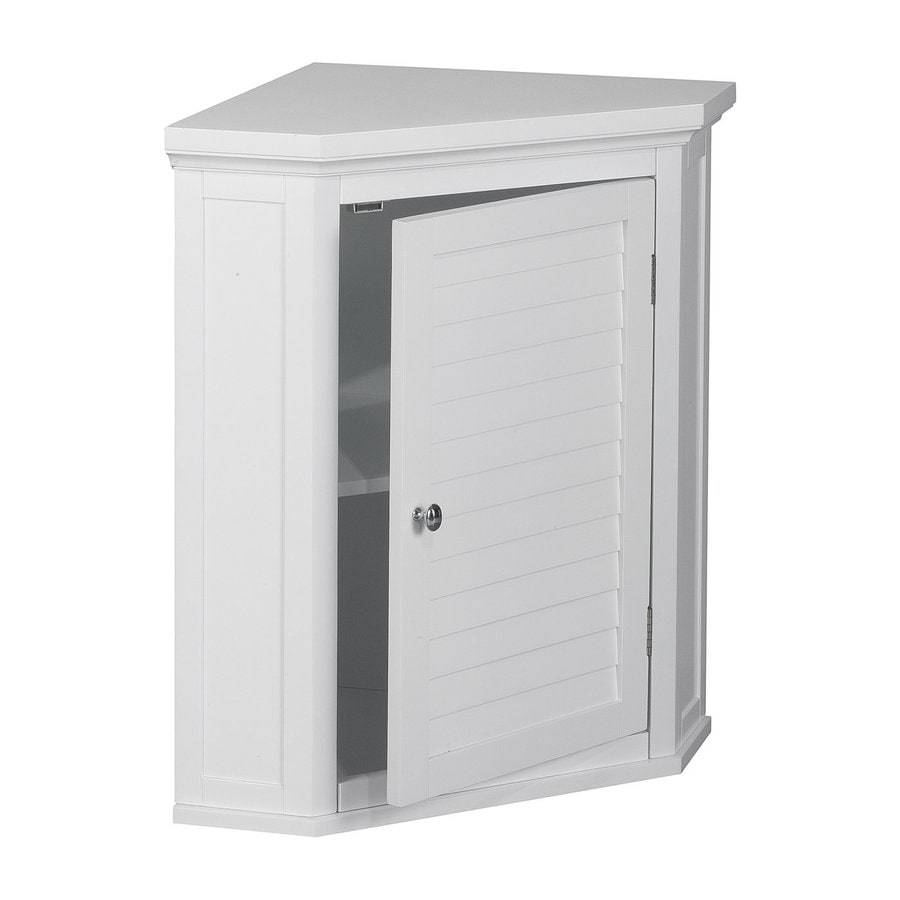 Elegant Home Fashions Slone 22.5-in W x 24-in H x 15-in D White MDF Bathroom Wall Cabinet