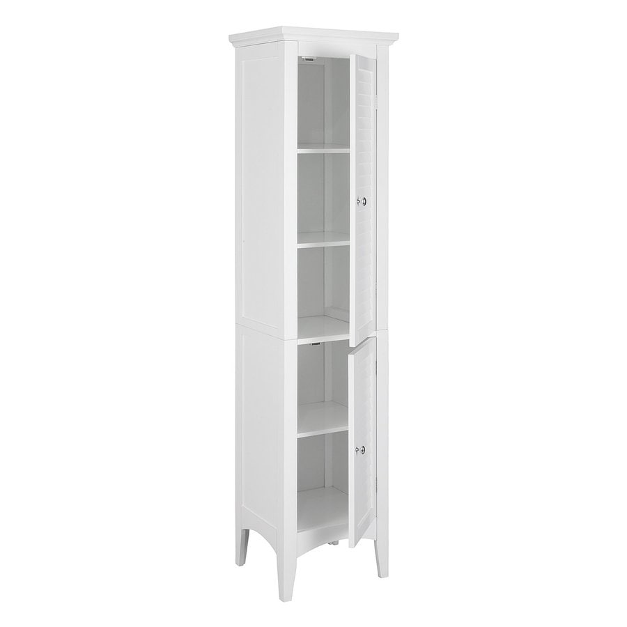 cabinet linen elegant shop storage home h closet w white at in cabinets organizers bathroom x fashions