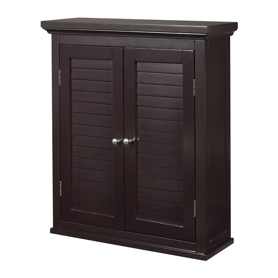 Elegant Home Fashions Slone 20-in W x 24-in H x 7-in D Dark Espresso MDF Bathroom Wall Cabinet