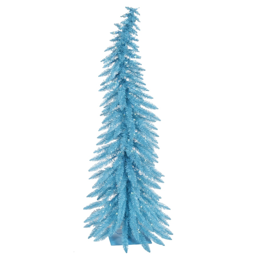 Vickerman 5-ft Pre-Lit Whimsical Slim Artificial Christmas Tree with Blue Incandescent Lights