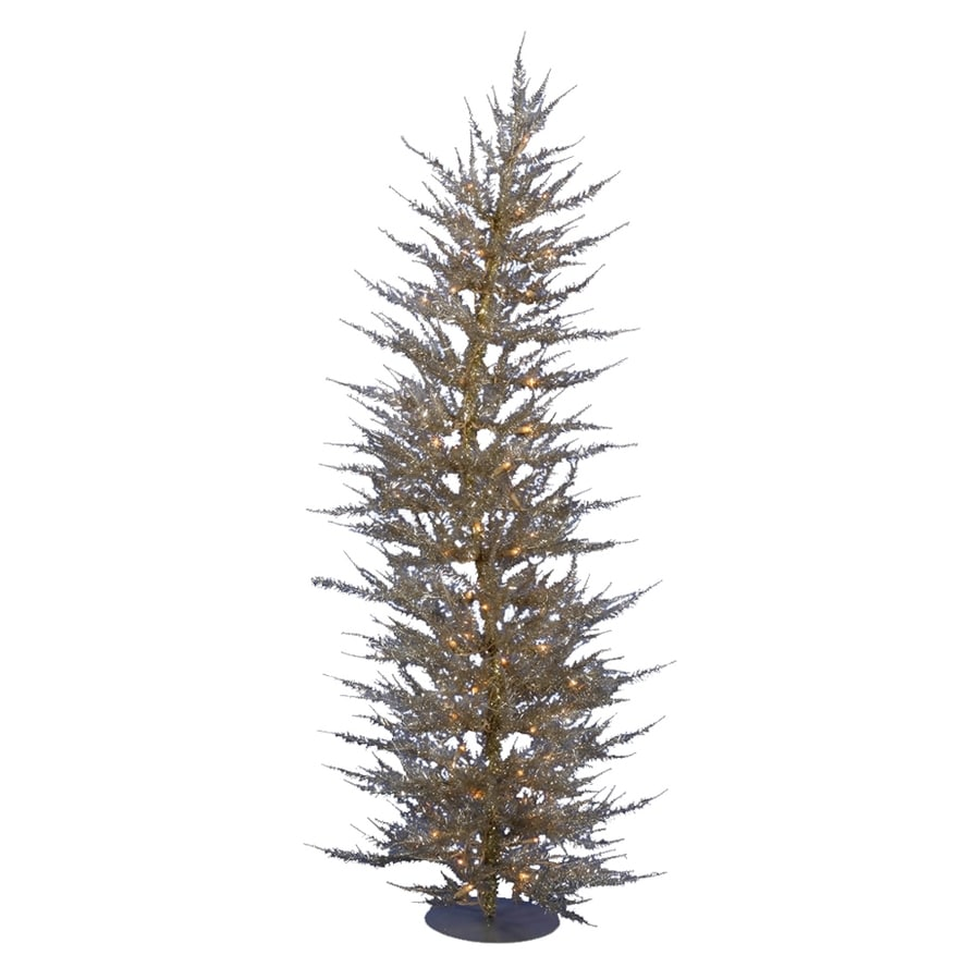 Vickerman 3-ft Pre-lit Whimsical Slim Artificial Christmas Tree with 50 Constant Clear White Incandescent Lights