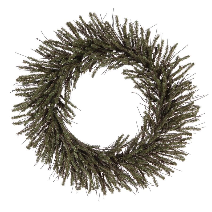 Vickerman Vienna Twig 24-in Un-Lit Indoor/Outdoor Brown/Green Twig Artificial Christmas Wreath