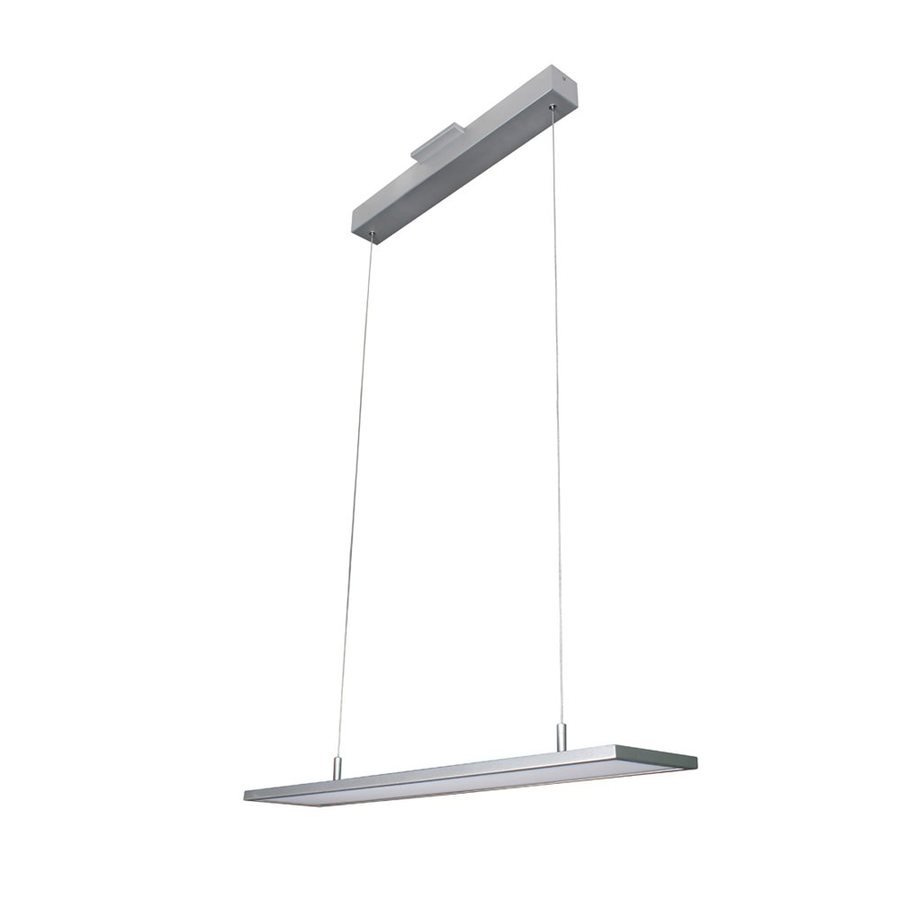 Vonn Lighting Atria 6.375-in W 1-Light Satin Nickel Kitchen Island Light with White Shade ENERGY STAR