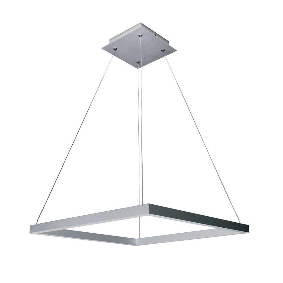 Vonn Lighting Atria 19.687-in Satin Nickel Single Square Pendant