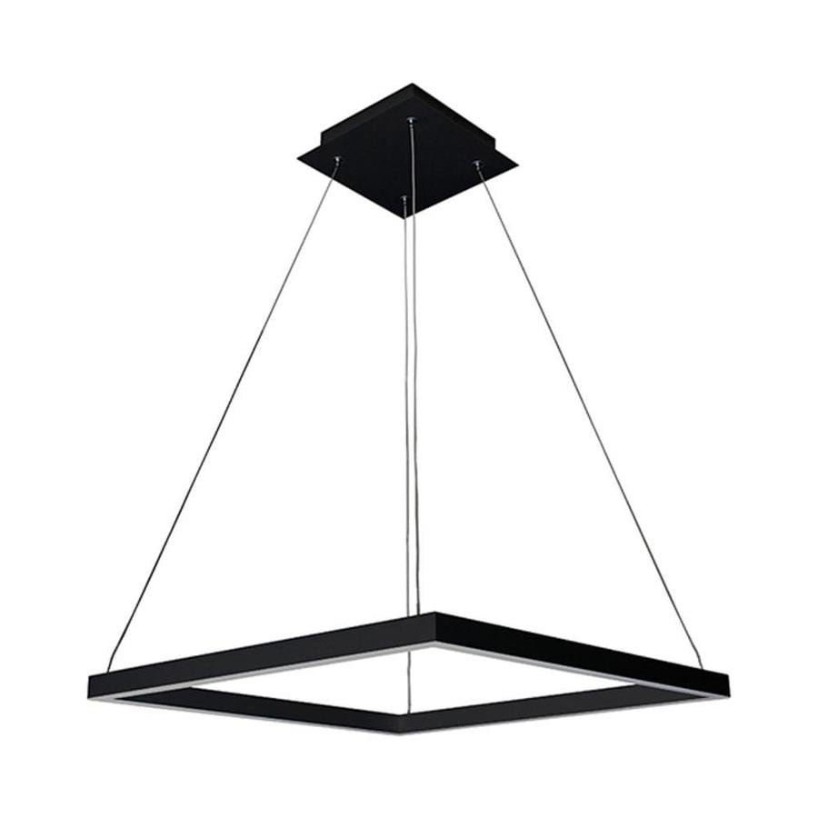 Vonn Lighting Atria 19687 In Black Square LED Pendant