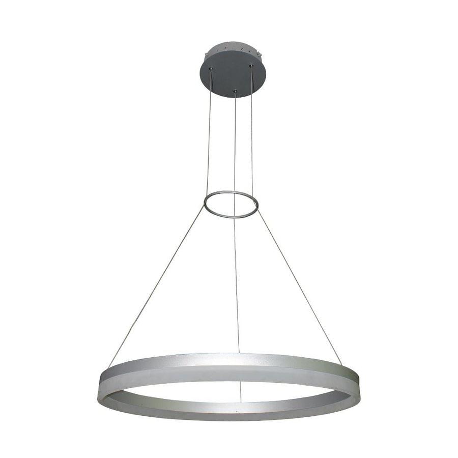 Vonn Lighting Tania 17.75-in Satin Nickel Oval LED Pendant