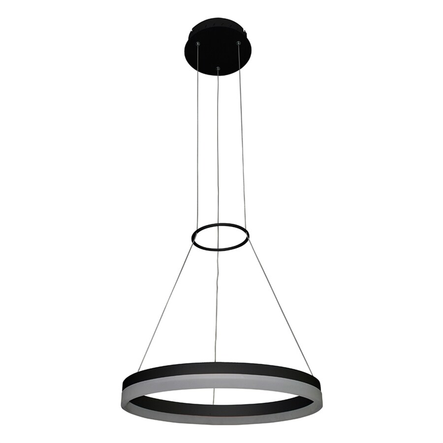 Vonn Lighting Tania 17.75-in Black Oval LED Pendant
