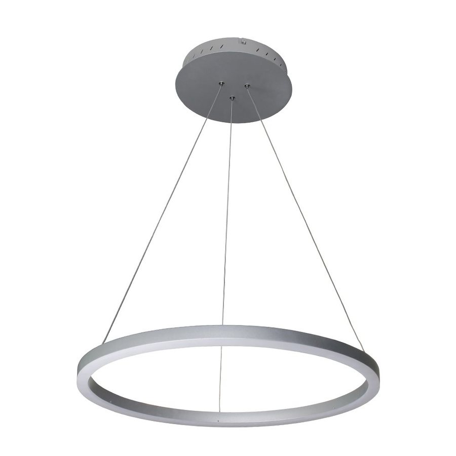 Vonn Lighting Tania 23.625-in Satin Nickel Single Oval Pendant