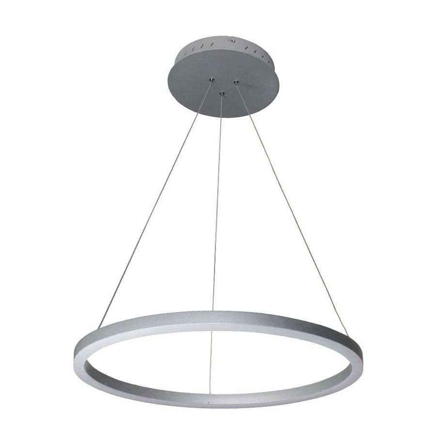 Vonn Lighting Tania 23.625-in Satin Nickel Oval LED Pendant