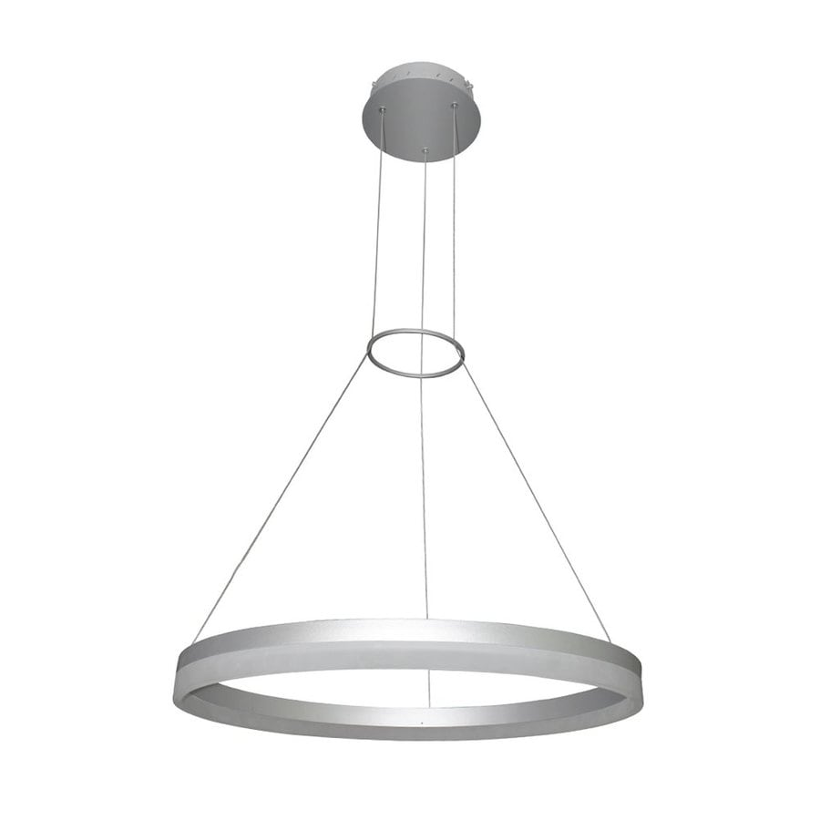 Vonn Lighting Tania 23.625-in Satin Nickel Oval LED Pendant