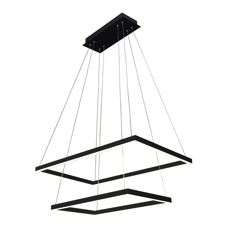 Vonn Lighting Atria 17.375-in 2-Light Black Abstract Chandelier