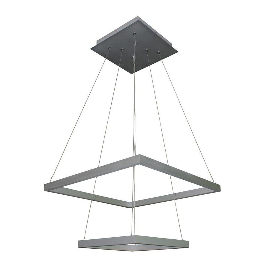 Vonn Lighting Atria 19.688-in 2-Light Satin Nickel Abstract LED Chandelier