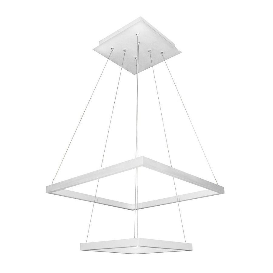 Vonn Lighting Atria 19.688-in 2-Light White Abstract LED Chandelier