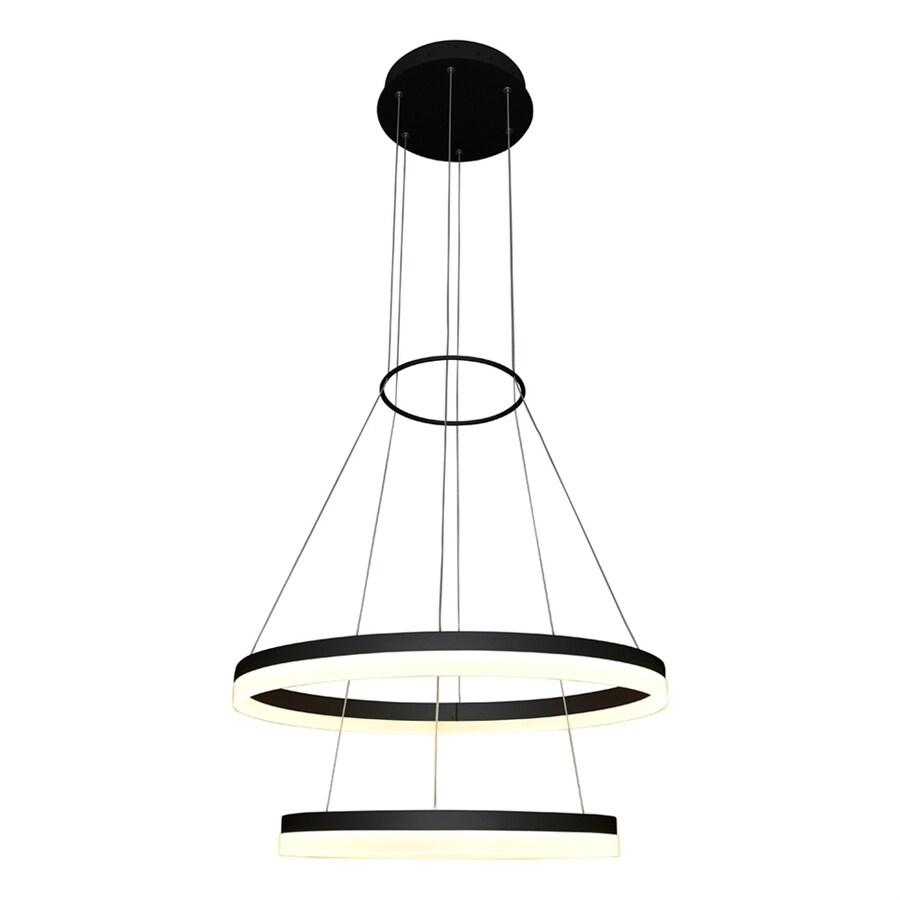 Vonn Lighting Tania 23.5-in 2-Light Black Abstract LED Chandelier ENERGY STAR