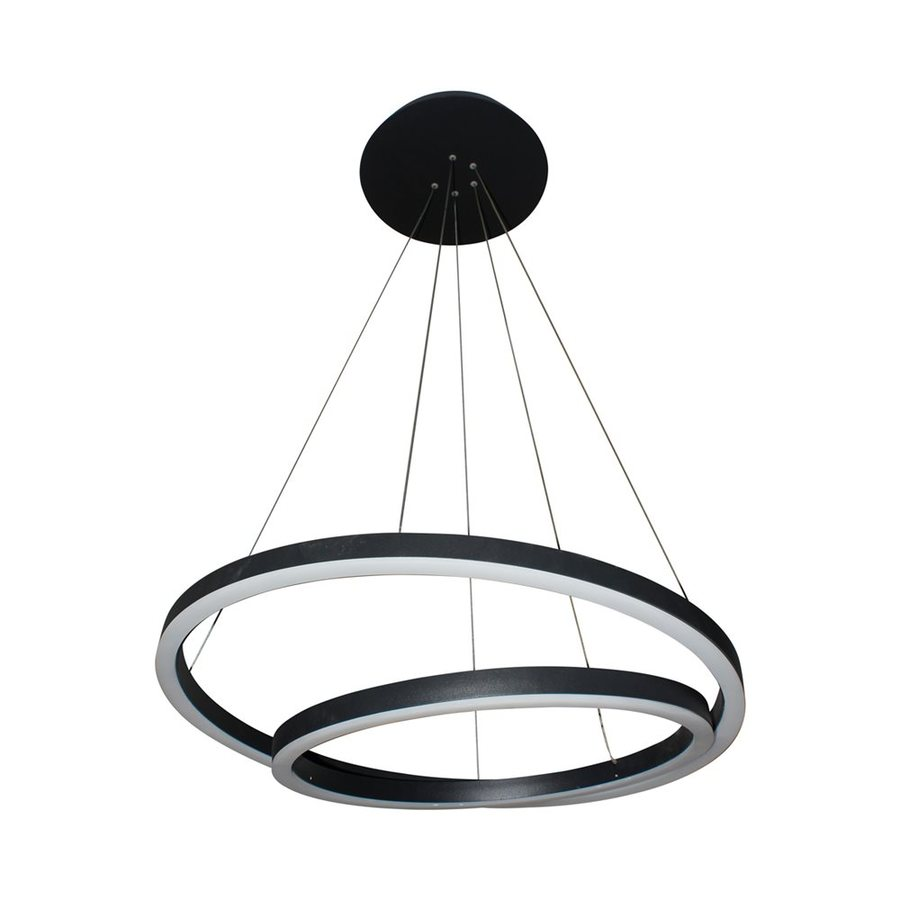 Vonn Lighting Tania 23.625-in 2-Light Black Abstract LED Chandelier ENERGY STAR