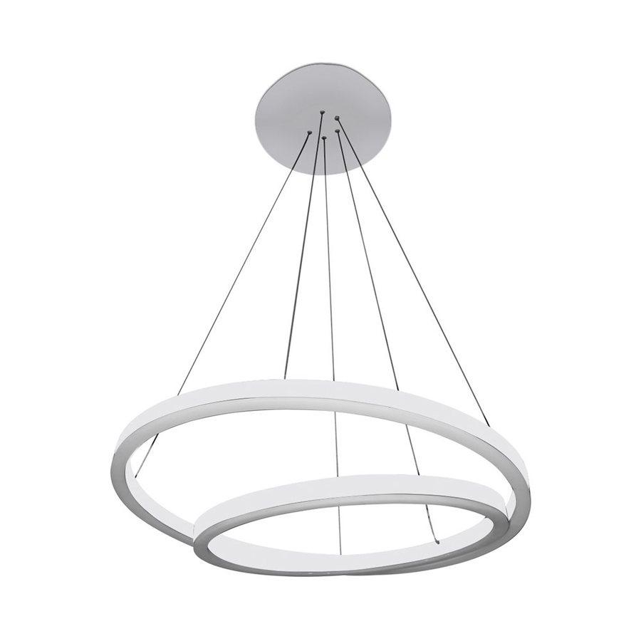 Vonn Lighting Tania 23.625-in 2-Light White Abstract LED Chandelier