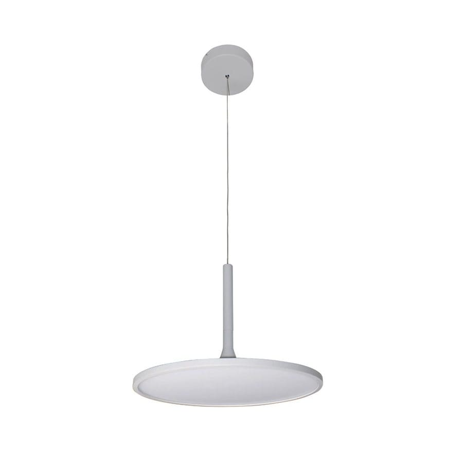 Vonn Lighting Salm 17.375-in Sand White Oval LED Pendant